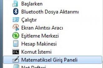 Matematiksel Giriş Paneli