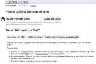 Yandex Kurumlar Mail Hizmeti Kurulumu ve Kullanımı